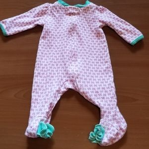 Small Wonders Newborn Butterfly Footed Pajamas